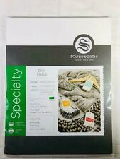 Southworth Diy Tags 91305 Bare White Double Thick Card Stock 3 1/2 x 2 1/8