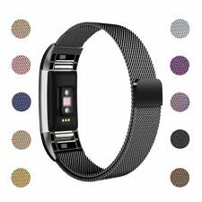 Fitbit Charge 2 Metal Mesh Strap Milanese Band Magnetic Clasp Stainless Steel