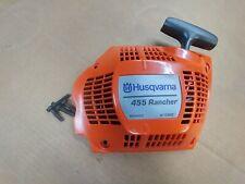HUSQVARNA 455 rancher chainsaw recoil starter ,OEM