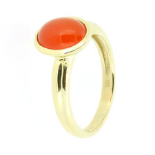 Ring 375 Gold 2,8g Karneol 1,8ct Cabochon 53 (16,8 mm Ø) Sogni d´oro