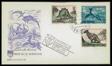 SAN MARINO FDC 1965 DINOSAURS DINOSAUR STEGOSAURUS T-REX THAUMATOSAURUS bk75
