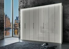 LUXURY GERMAN GLASS WARDROBE BEDROOM PEBBLE GREY WHITE GLOSS FITTED FREE NEW