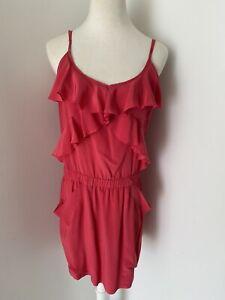 Magali Pascal Fuchsia Frill Dress, Sz S