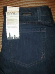Jones New York Jeans Lexington Straight Stretch Women's Blue Size 12 x 30.5 New