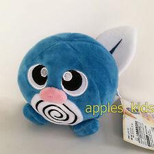 """Pokemon GO Plush Poliwag #060 Blue Tadpole Soft Toy Stuffed Animal Doll Teddy 5"""""""