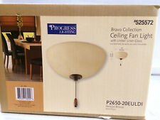 Antique Bronze, Amber Glass Shade 525572  CEILING FAN LIGHT KIT SHIPS FREE