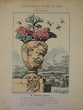 RARE CARICATURE ALFRED LE PETIT EDMOND ABOUT NAPOLEON III COMMUNE de PARIS 1871