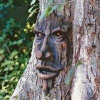 Tree Face Sculpture Art Decor Yard Garden Plaque Outdoor Forest New