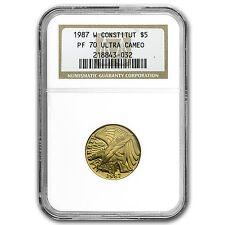 1987-W Gold $5 Commem Constitution PF-70 NGC - SKU #32197