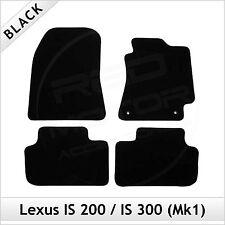Lexus IS 200 300 Mk1 1999-2005 Tailored Carpet Car Floor Mats BLACK