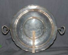 BIG HEAVY ANTIQUE SPANISH COLONIAL COIN SILVER .900 FRUIT OR BREAD PLATTER TRAY