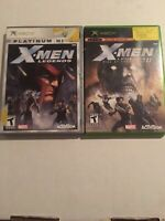 X-Men Legends I + II 1 + 2 Marvel Game Lot Microsoft Xbox OG COMPLETE FAST S/H