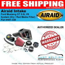 Airaid 15-17 Ford Mustang GT 5.0L V8 Intake System Dry / Red Media Filter