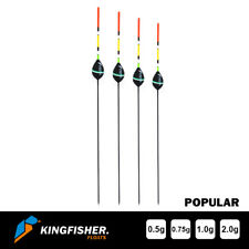 """POLE FISHING FLOATS - The Kingfisher """"Popular"""" Pack of 4 HIGH QUALITY"""