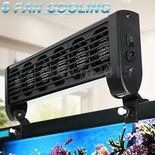 Aquarium Marine Tropic Chillers Cooling Fan 6 Fans 240L Fish Tank + Adapter 12V