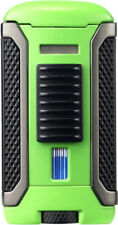 "COLIBRI ""APEX"" SINGLE JET FLAME LIGHTER / GREEN & BLACK ** NEW in BOX **"