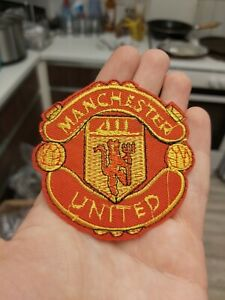Manchester United football patch applique motif 87mm iron on craft B3 crest