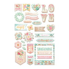 HEAVEN SENT 2 - 33  Gorgeous BABY Puffy Stickers - Prima