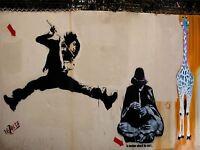 ART PRINT POSTER PHOTO GRAFFITI MURAL STREET FLYING FLUTE NOFL0206