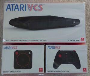 Atari VCS 800 Onyx with Modern Controller and Classic Joystick