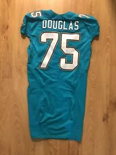 Miami Dolphins 2015 Jamil Douglas Game Used Jersey 50th Anniversary Patch