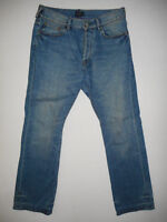 Paul Smith Button-Fly - Mens Blue Denim Jeans - Waist 32 Leg 32