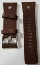 DZ7314 28mm Replacement Dark Brown Genuine Leather Watch Strap