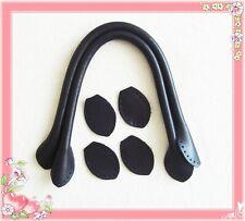 40cm hochwertige Taschengriffe Echtleder Verbindungsstück Gegenstück schwarz