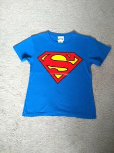Superman t-shirt boys blue 7-8 years