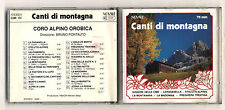 Cd CORO ALPINO OROBICA Canti di montagna - Novale Bruno Pontalto