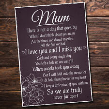Mum Memorial Plaques Grave Tree Marker Cremation Outdoor Sign Memory Mother