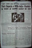 13 APRILE 1961 * YURY ALEXIEVIC GAGARIN *IL PRIMO UOMO NELLO SPAZIO- POSTER -2