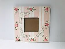 """Pink Photo Frame Shabby Chic Milano & Louis 9x9"""" Fits 3 5/8"""""""
