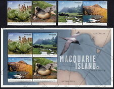 AAT 2010 Macquarie Island scenes and wildlife set & souvenir sheet