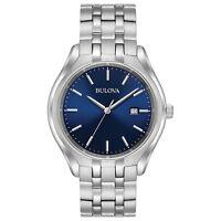 Bulova Classic Men's 96B268 Quartz Blue Dial Silver-Tone Bracelet 41mm Watch