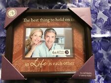 """New View Gifts Frame """"The Best Thing To Hold On To In life Is Each Other"""""""