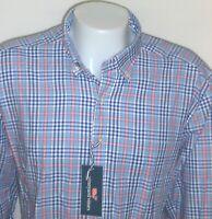 Vineyard Vines Mens XXL Slim Fit Plaid Murray Shirt Whale Label Blue Pink NWT