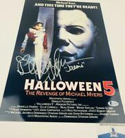 Danielle Harris signed Halloween 11X17 METALLIC photo BAS COA H32919