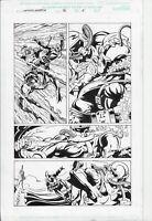 Captain America #46 p8 (2001) Jurgens/Layton  Cap Undersea Battle