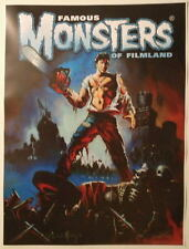 Famous Monsters of Filmland Poster - The Evil Dead Ken Kelly art Hand Signed