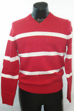 OLD NAVY V-Neck Sweater - Red with White Stripes