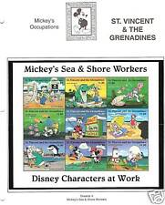 ST.VINCENT # 2253a-i DISNEY MICKEY SEA & SHORE WORKERS