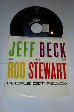"JEFF BECK & ROD STEWART - People Get Ready - 1985 7"""