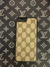 Gucci iPhone 8 Plus Case Upcycled Authentic Material Brown Monogram Ebony GG