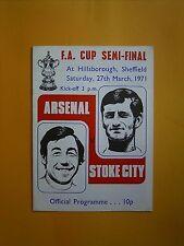 FA Cup Semi-Final - Arsenal v Stoke City - 27th March 1971
