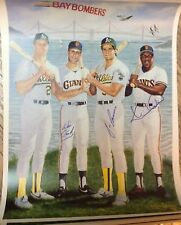 BAY BOMBERS OAKLAND A's SF GIANTS Lithograph Autograph  Mitchell Clark Canseco