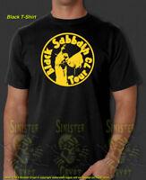 Black Sabbath Rock Heavy Metal Tour 1973 HBO Vinyl Show New T-shirt S- a1d6cecc05d3c
