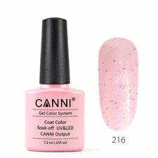 Nail Gel Polish UV LED Canni Soak Colour Varnish Lacquer Glitter Base Top Coat