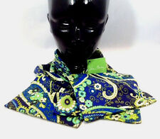 Vera Bradley Rhythm & Blues Scarf Knit Muffler Flower Green Navy Blue New