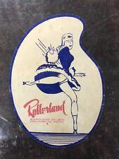 Vintage 1930-1950 Era Decal Rollerland Roller Rink Columbus Ohio